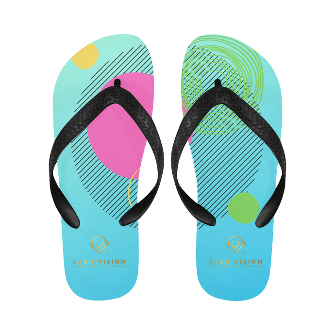 Cash Vision Arts Flip Flop - Sea Blue