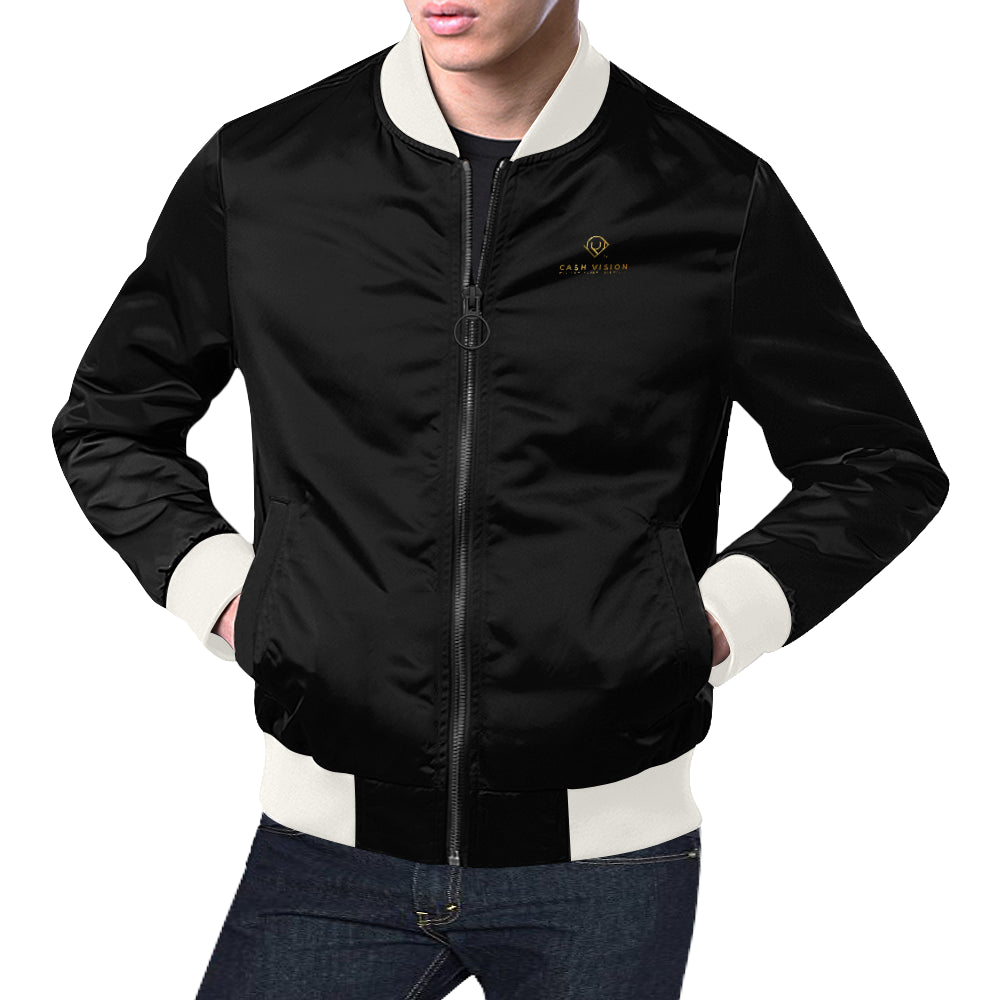 Cash Vision Bomber Jacket - Black White