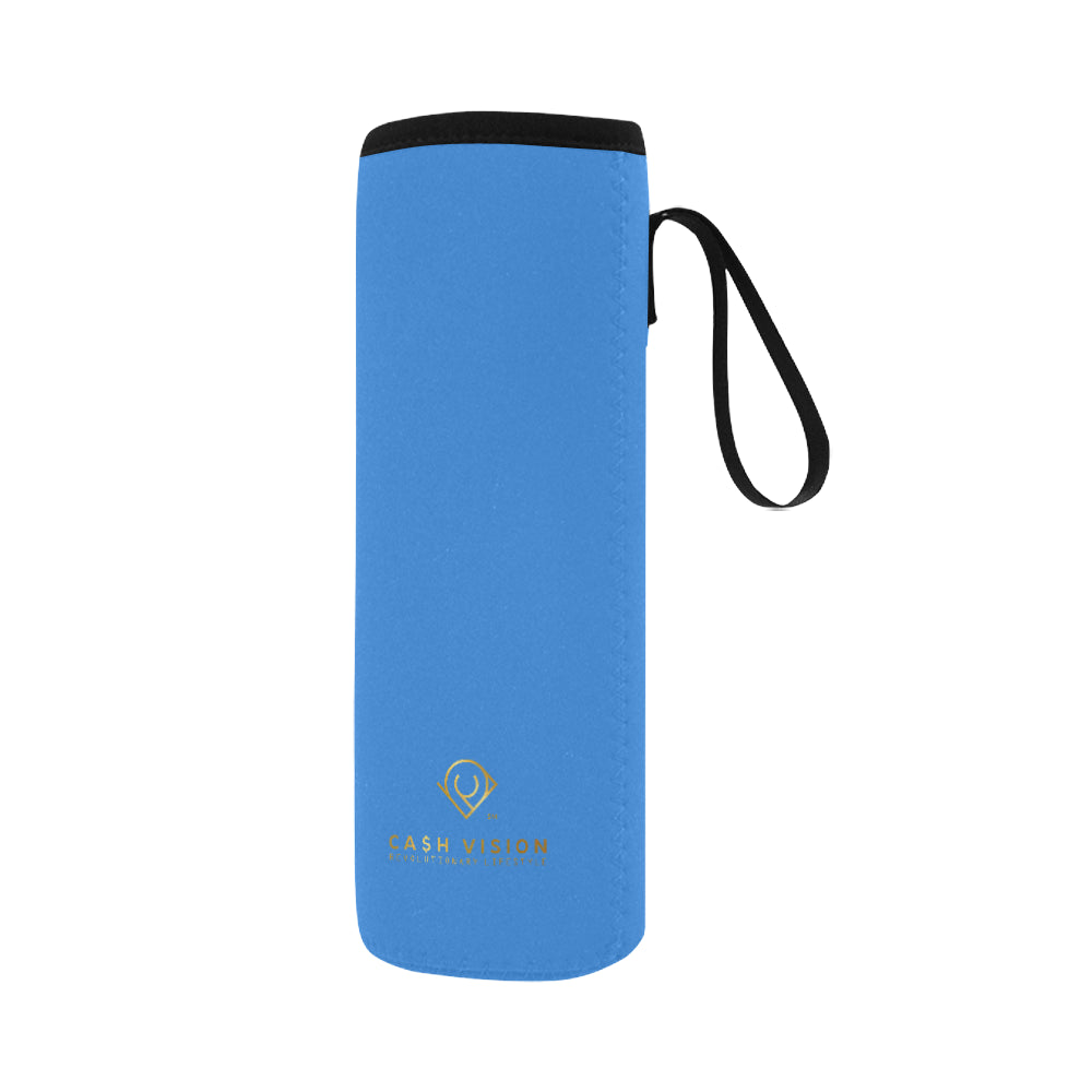 Cash Vision Large Neoprene Water Bottle Pouch - Blue
