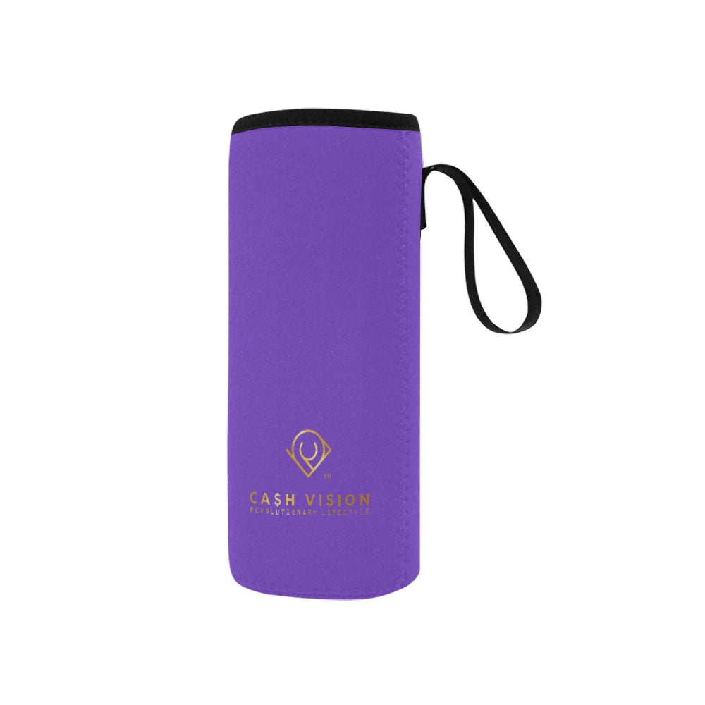Cash Vision Small Neoprene Water Bottle Pouch - Purple