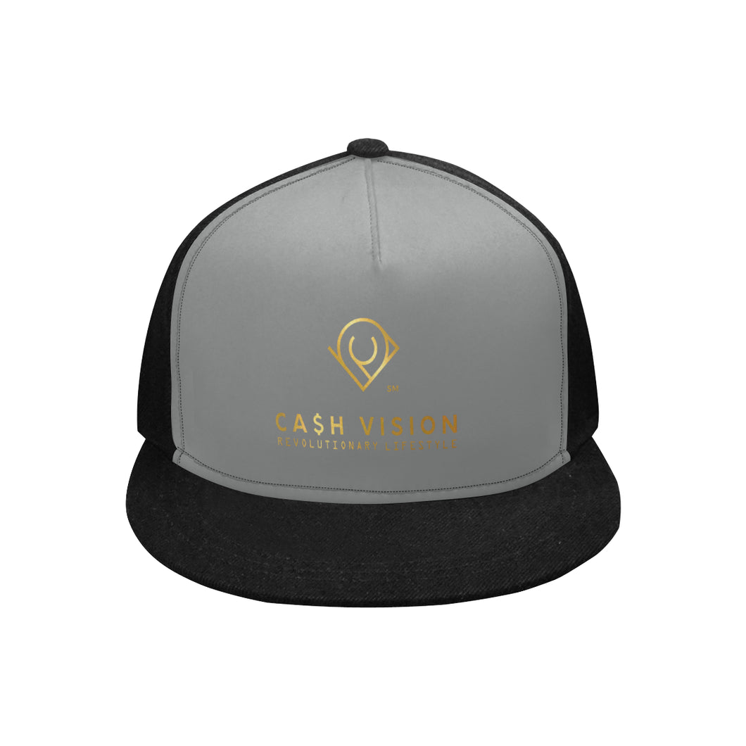 Cash Vision Snapback Hat G - Black Grey