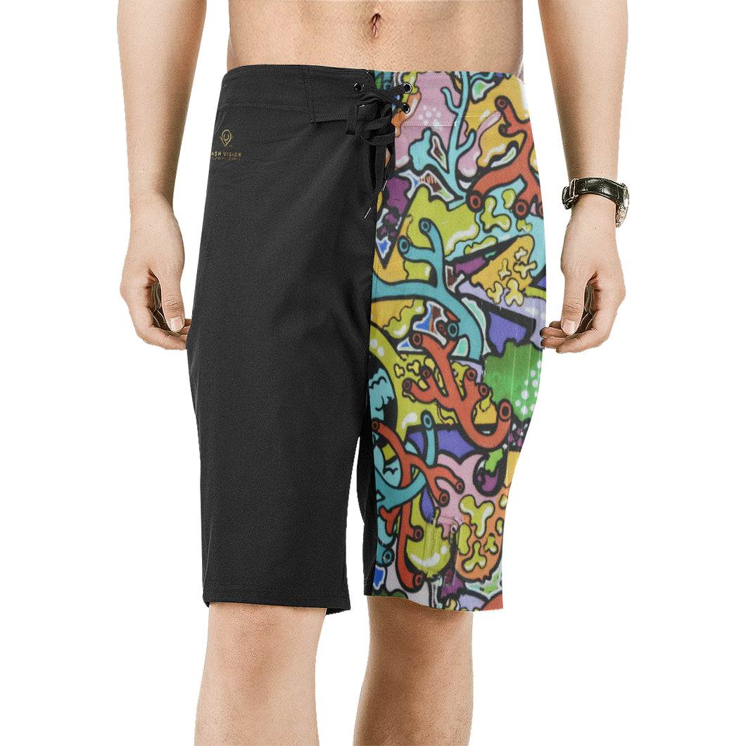Cash Vision Graffiti Board Shorts - Black