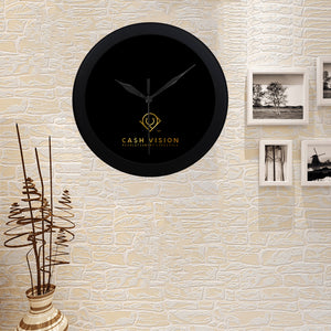Cash Vision Wall Clock - Black