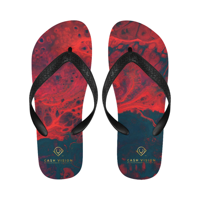Cash Vision Red Rose Vallet Flip Flops