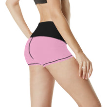 Load image into Gallery viewer, Cash Vision Yoga Shorts - Black Pink