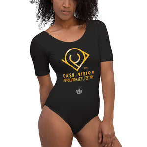 Cash Vision Short Sleeve Bodysuit - Black