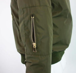 Live Today Bomber Jacket - Army Green