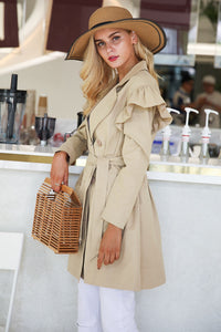Feeling Right Trench Coat - Khaki
