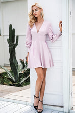 Load image into Gallery viewer, I Love Me Ruffle Mini Dress - Gray Pink