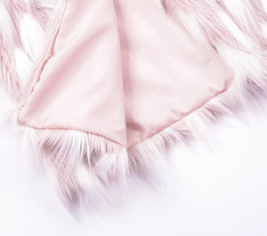 Forever 16 Faux Fur Coat - Pink White