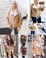 Load image into Gallery viewer, Love Me Suede Fur Jacket - Khaki