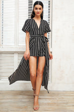 Load image into Gallery viewer, My Life My Way Stripe Romper - Black White