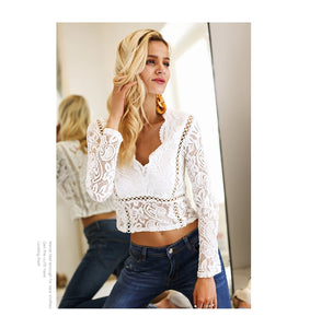 Beauty Queen Lace Top - White
