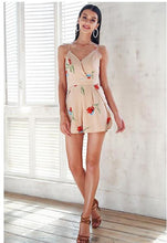 Load image into Gallery viewer, Sweet Memories Stripes Romper - Apricot