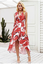 Load image into Gallery viewer, Tropicana Maxi Dress - White & Red