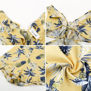 Baby Girl Floral Romper - Yellow