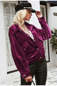 Shay Corduroy Jacket - Purple