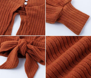 My Day Knitted Tops - Orange