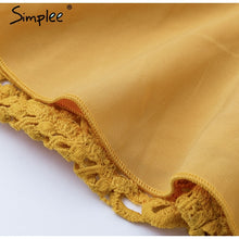 Load image into Gallery viewer, Can`t Hold Me Back Lace Blouse - Yellow