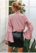 Load image into Gallery viewer, Timeless Ruffle Blouse - Nude Pink