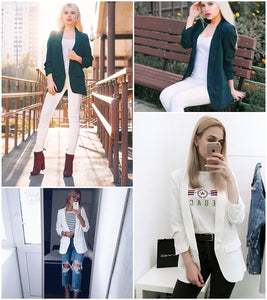 Yes Boss Blazer - White