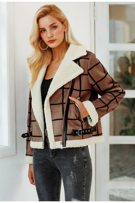 Happy Day Faux Fur Jacket - Camel