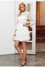 Load image into Gallery viewer, Snowy Lace Patel Mini Dress - White