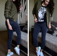 Load image into Gallery viewer, Live Today Bomber Jacket - Army Green