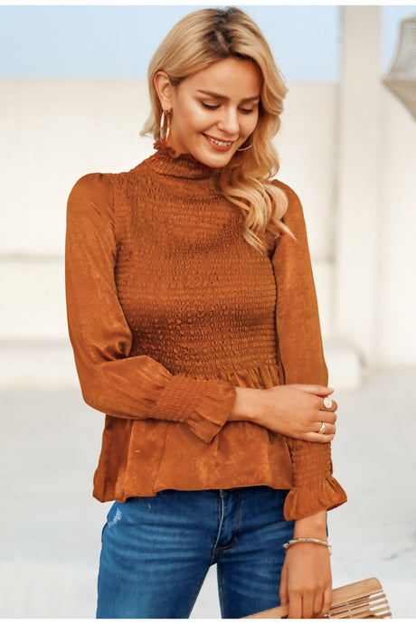 Kind Day Ruffle Blouse - Orange