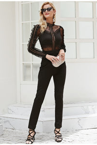 High End Life Mesh Jumpsuit - Black