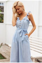 Load image into Gallery viewer, Style It Cotton Jumpsuit - Light Blue