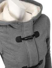 Load image into Gallery viewer, Women's coat with a hood