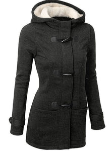 Women's coat with a hood