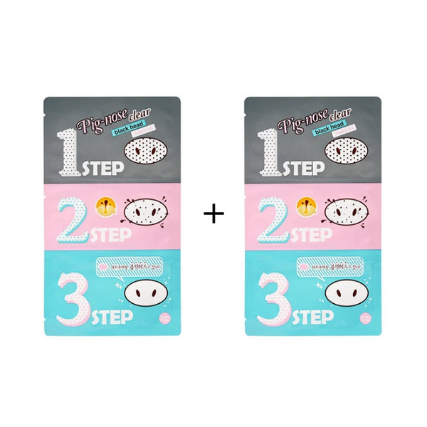 HOLIKA HOLIKA Pig Clear BlackHead 3-Step Kit (Nose Pack)