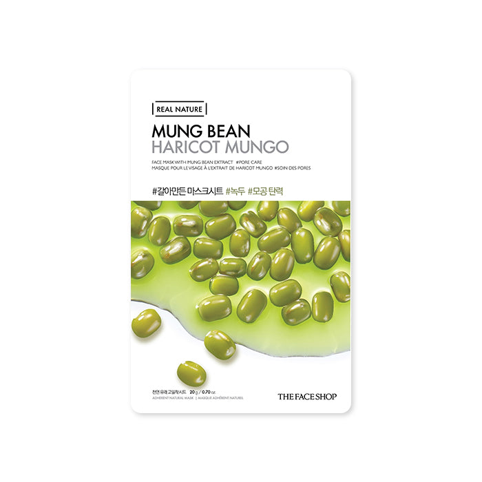 THE FACE SHOP Real Nature Mask Sheet Mung Bean