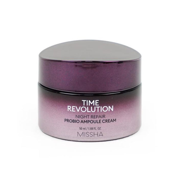 MISSHA Time Revolution Night Repair Probio Ampoule Cream 50ml [Ship from US]