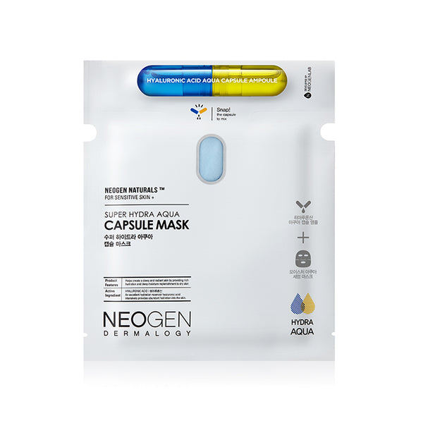 NEOGEN Dermalogy Super Hydra Aqua Capsule Mask 165g / 5.82oz (5 Sheets) [Ship from US]