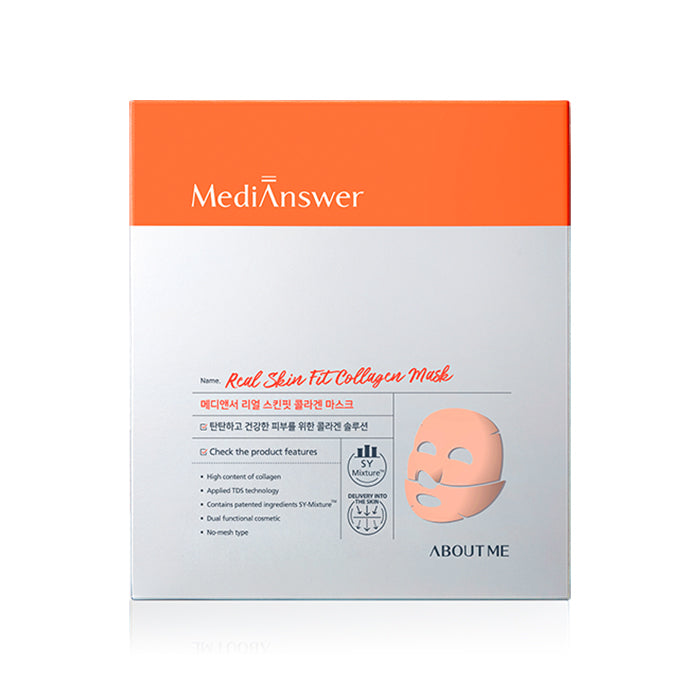 ABOUT ME Medianswer Real Skin Fit Collagen Mask 35g 4ea