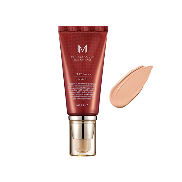 MISSHA M Perfect Cover B.B Cream No.21 Light Beige 50ml