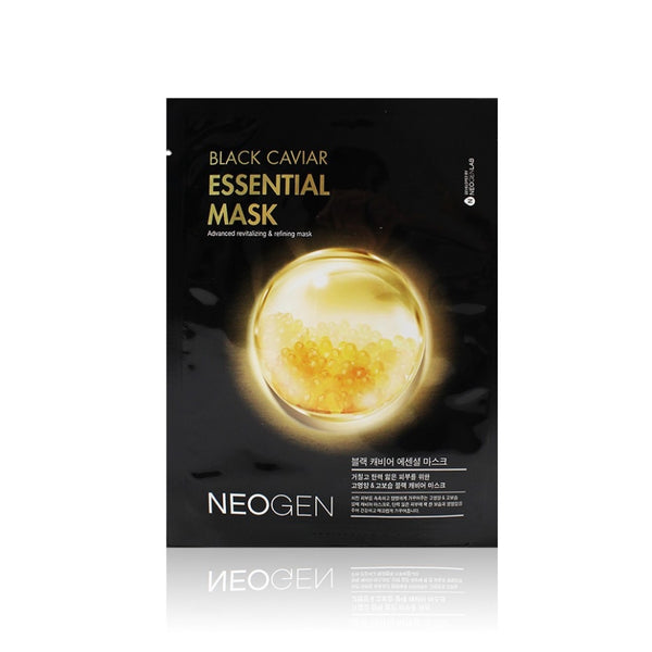 NEOGEN Dermalogy Black Caviar Essential Facial Sheet Pack 23ml / 0.77oz (10 Sheets)