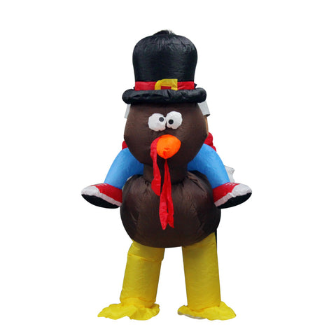 Thanks Giving Day Black Turkey Inflatable Costume