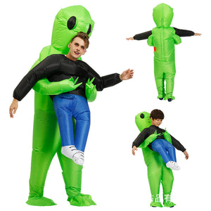Halloween Area 51 Costume Alien Abduction ET Inflatable Costume