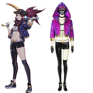 League Of Legends LOL KDA Akali Halloween Cosplay Costume