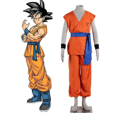 Dragon Ball Super Son Goku Halloween Cosplay Costume With Shoes Full Set