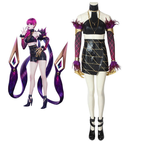 League of Legends LOL KDA Evelynn Halloween Cosplay Costume