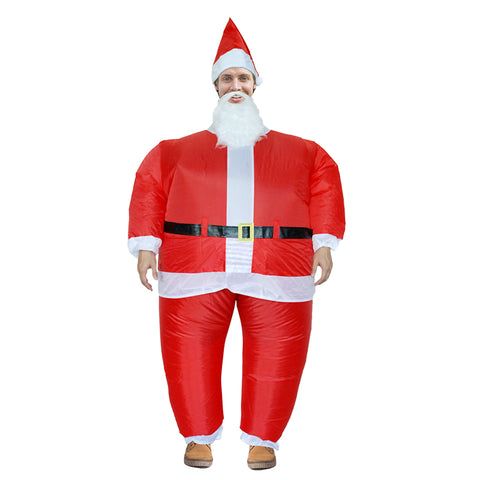 Santa Claus Inflatable Blow Up Costume Christmas Xmas Costume For Adult Kids