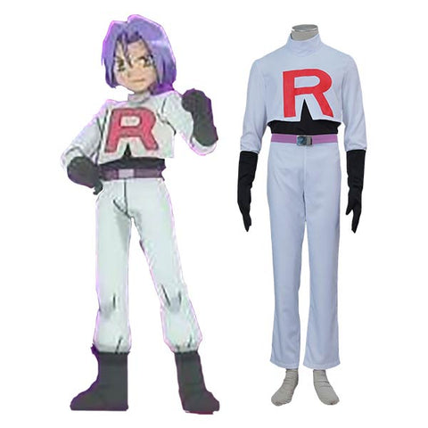 Pokemon Team Rocket James Halloween Cosplay Costume