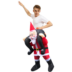 Christmas Santa Claus Costume Inflatable Blow Up Costume