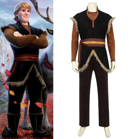 Frozen 2 Kristoff Halloween Cosplay Costume 2019 Movie Version Full Set High Quality