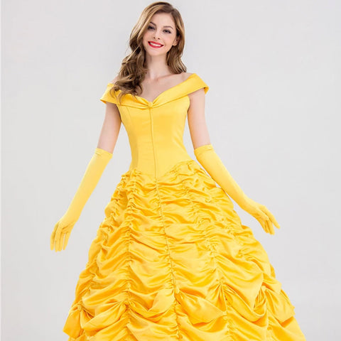 Beauty and the Beast Belle Halloween Princess Dress Costume For Women